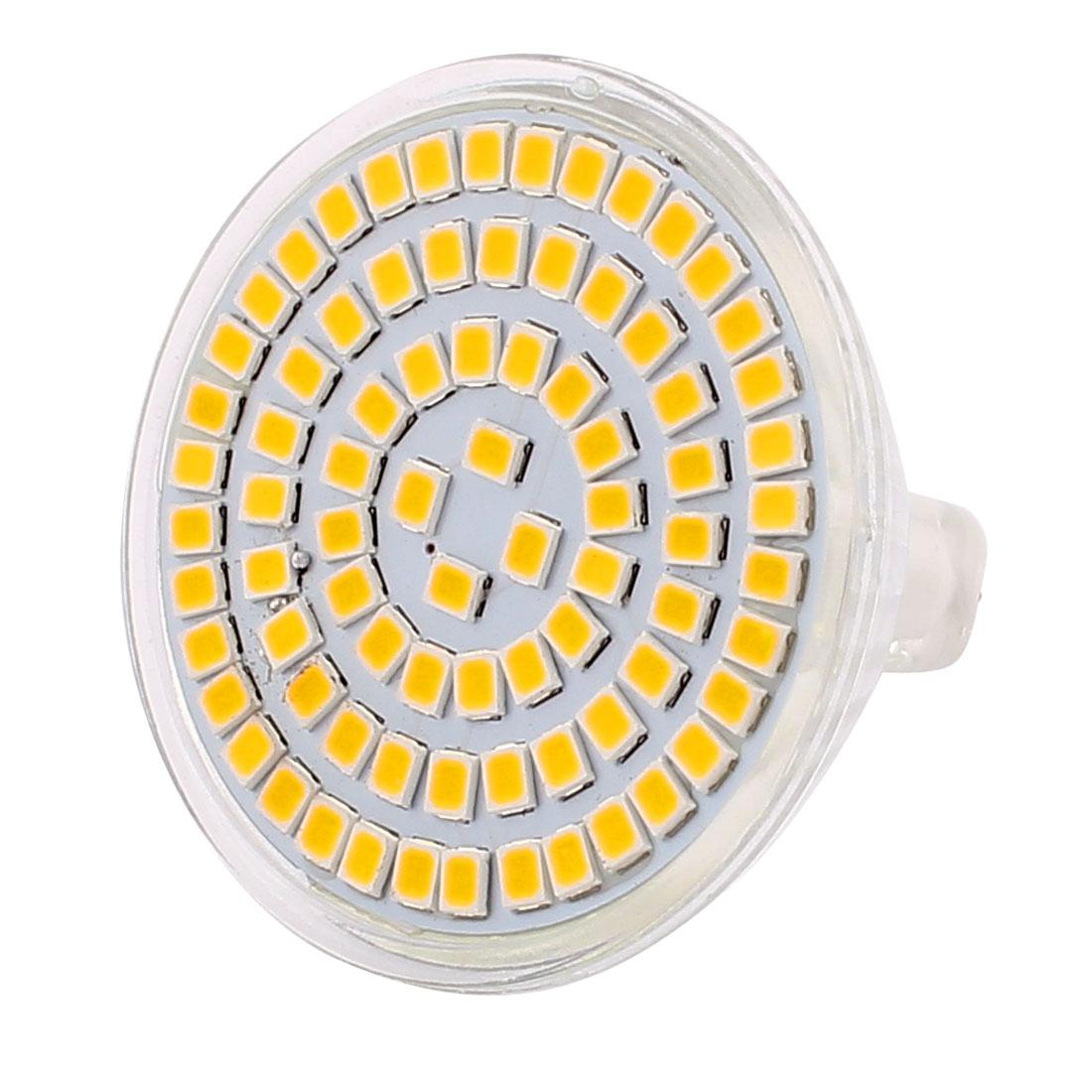 220V 8W MR16 2835 SMD 80 LEDs LED Light Spotlight Down Lamp Lighting Warm White