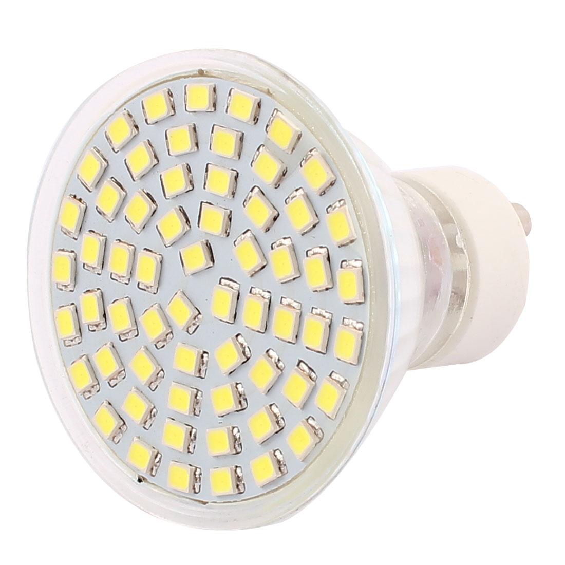 220V GU10 LED Light 6W 2835 SMD 60 LEDs Spotlight Down Lamp Bulb Lighting Pure White