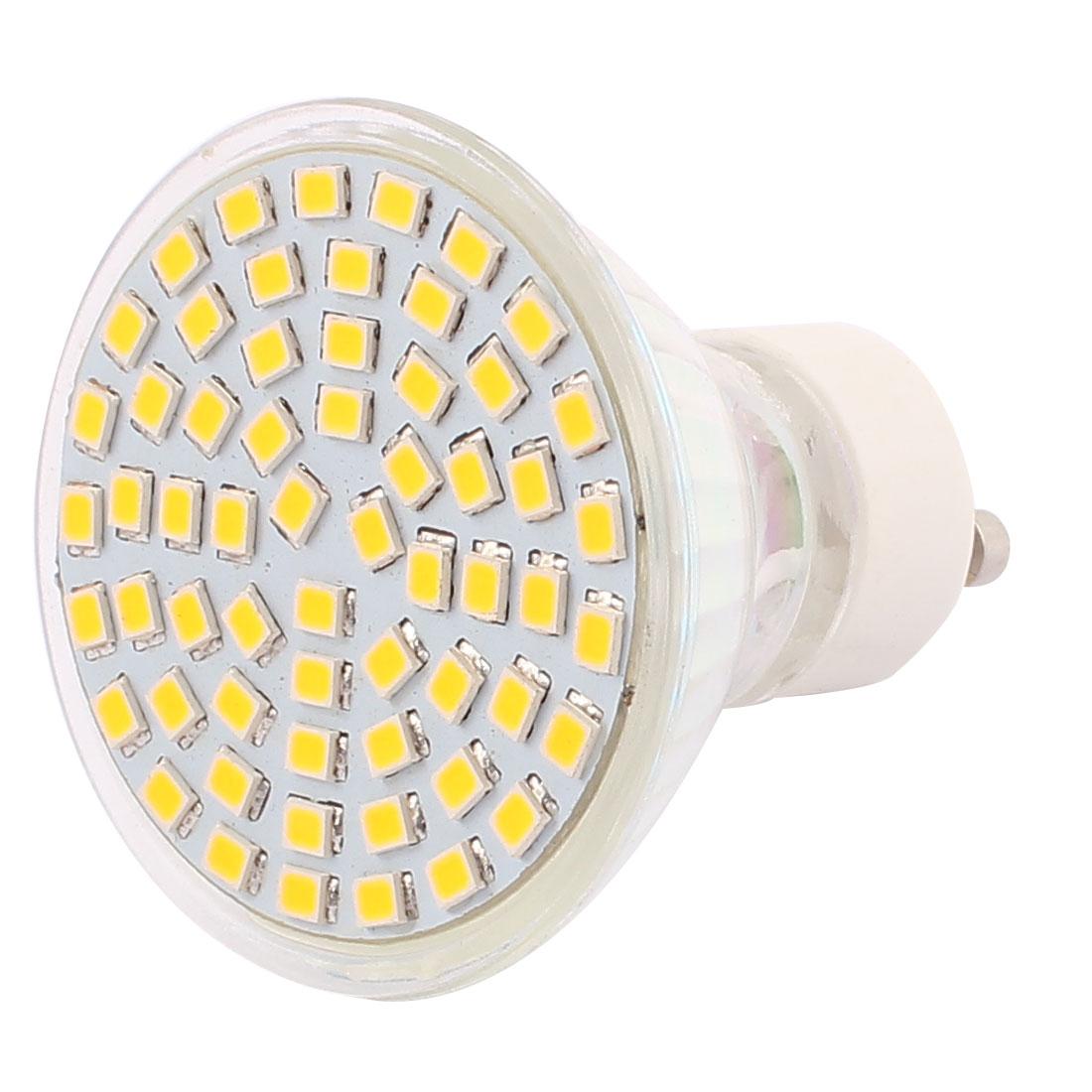 220V-240V GU10 LED Light 6W 2835 SMD 60 LEDs Spotlight Down Lamp Bulb Lighting Warm White