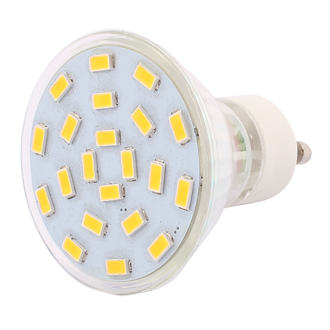 220V-240V GU10 LED Light 3W 5730 SMD 21 LEDs Spotlight Down Lamp Bulb Warm White