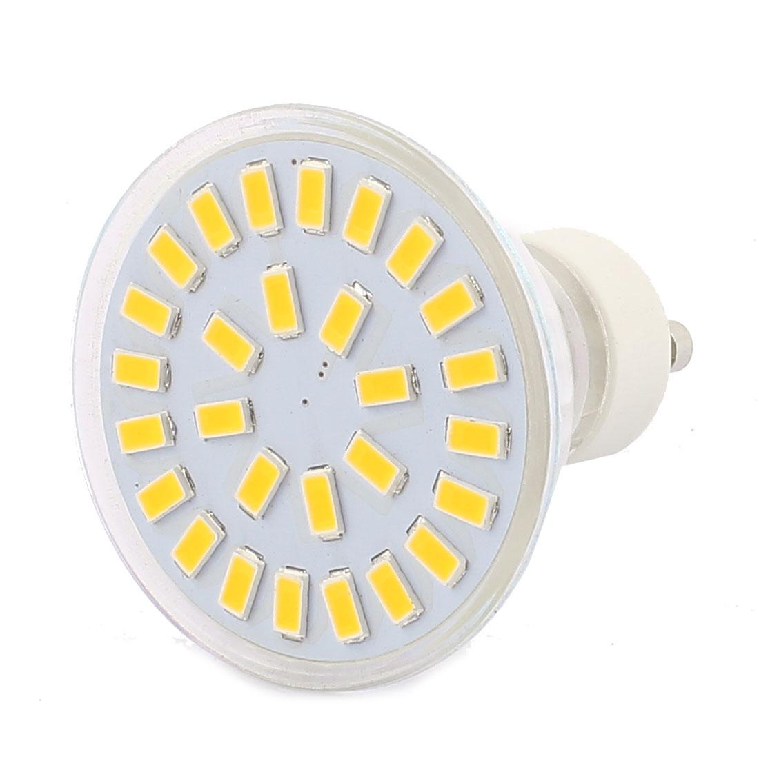 220V-240V GU10 LED Light 4W 5730 SMD 28 LEDs Spotlight Down Lamp Bulb Warm White