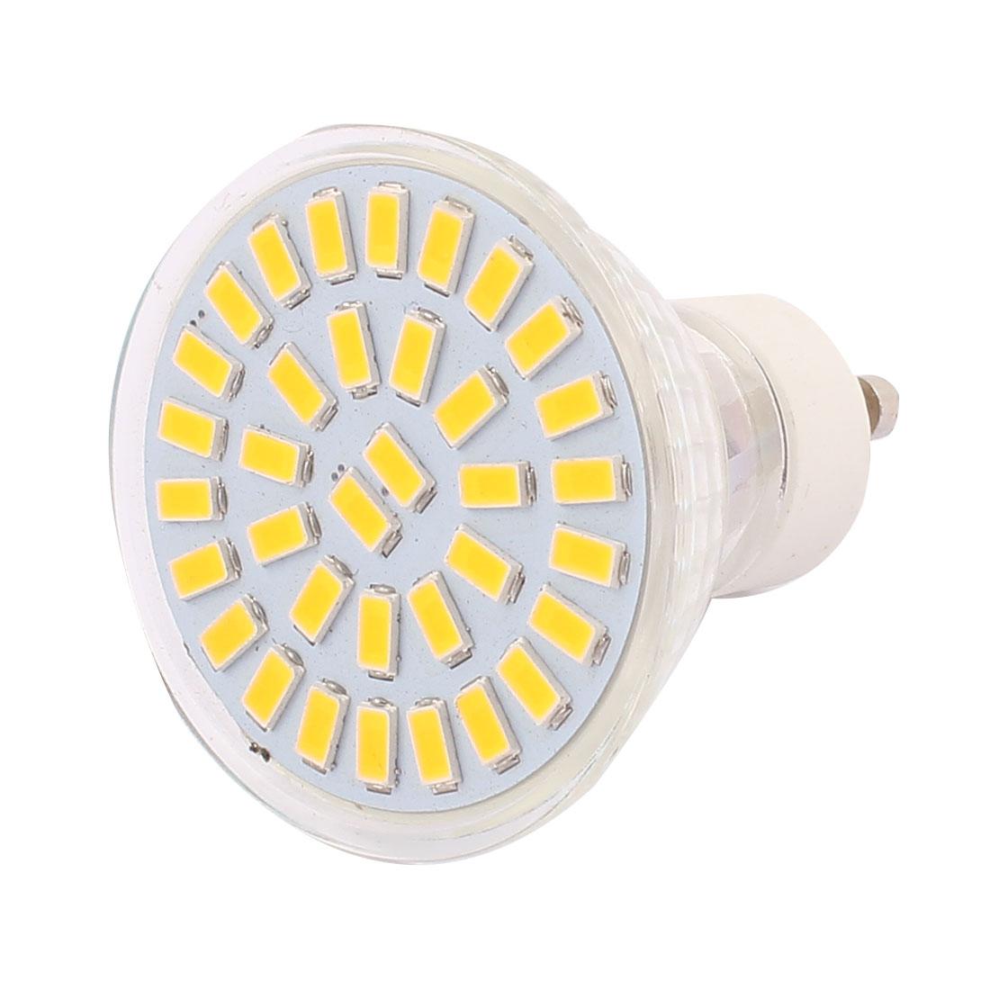 220V-240V GU10 LED Light 5W 5730 SMD 35 LEDs Spotlight Down Lamp Bulb Warm White