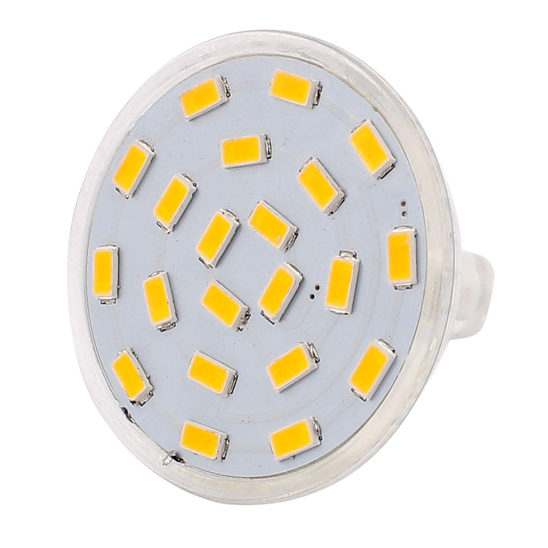 220V-240V 5W MR16 5730 SMD 21 LEDs LED Bulb Down Light Spotlight Lamp Warm White