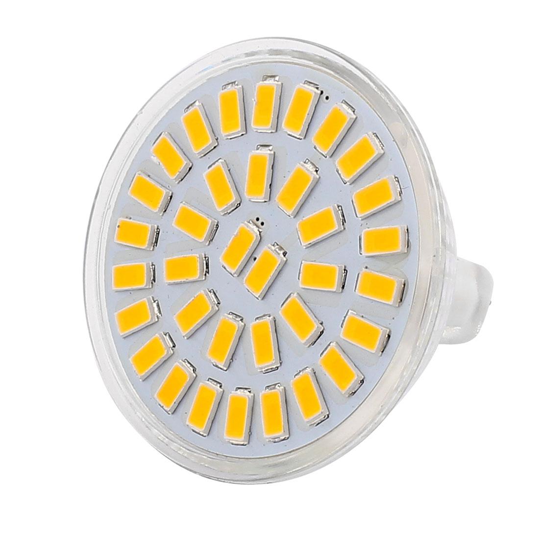 220V-240V 5W MR16 5730 SMD 35 LEDs LED Bulb Down Light Spotlight Lamp Warm White
