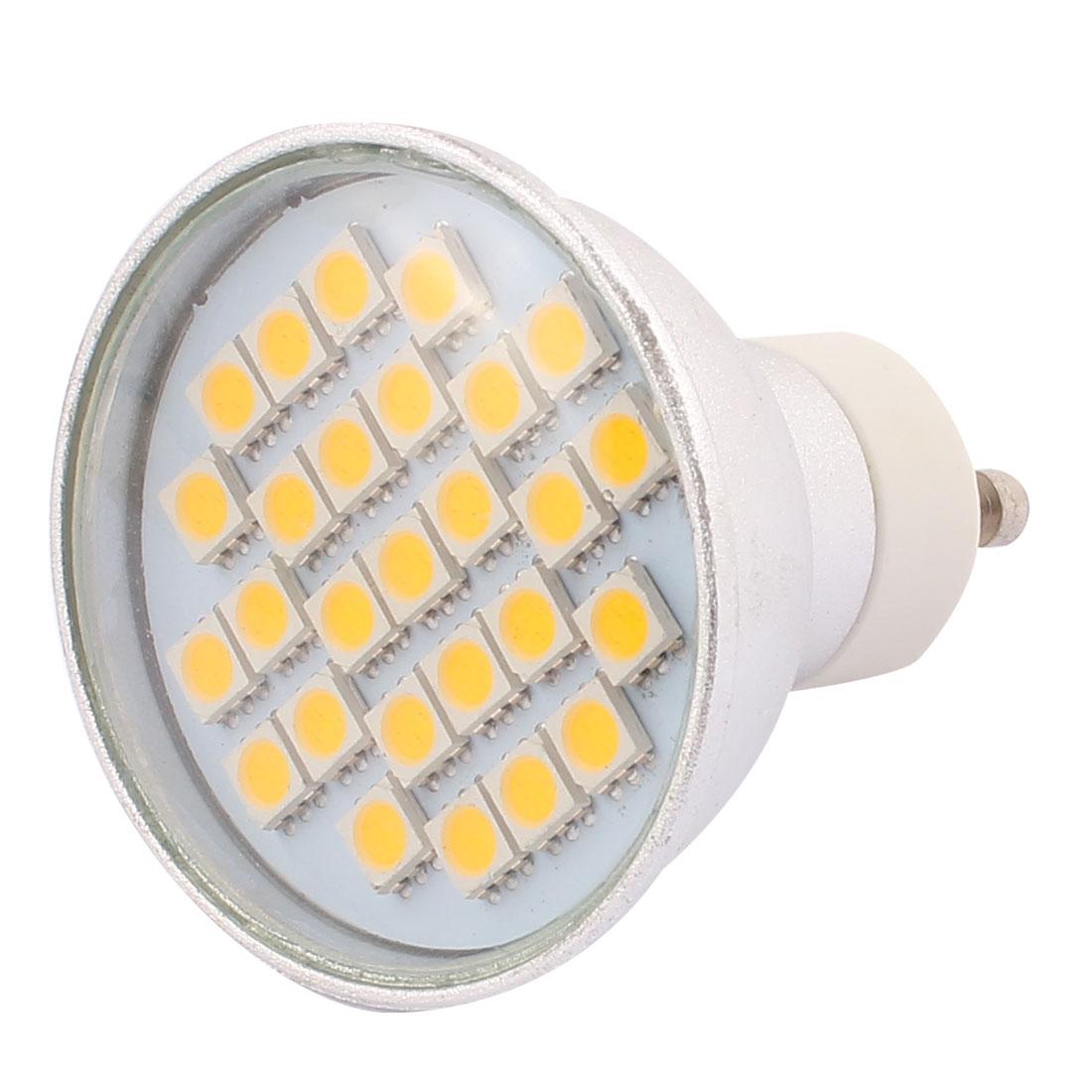 110V GU10 LED Light 4W 5050 SMD 27 LEDs Spotlight Down Lamp Bulb Energy Saving Warm White