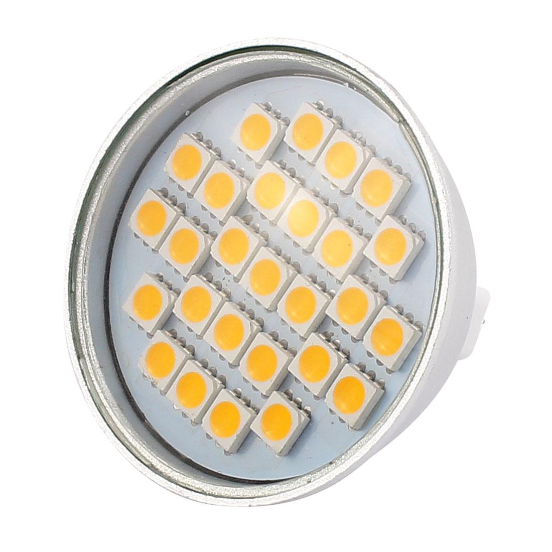 220V 4W MR16 5050 SMD 27 LEDs LED Bulb Light Spotlight Lamp Energy Save Warm White