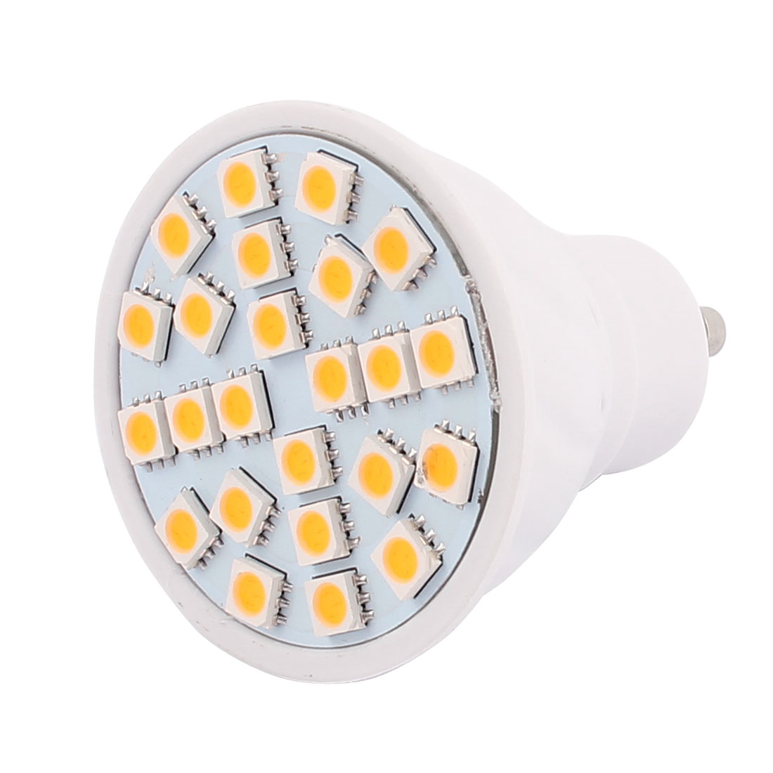 220V GU10 LED Light 3W 5050 SMD 24 LEDs Spotlight Down Lamp Bulb Energy Save Warm White
