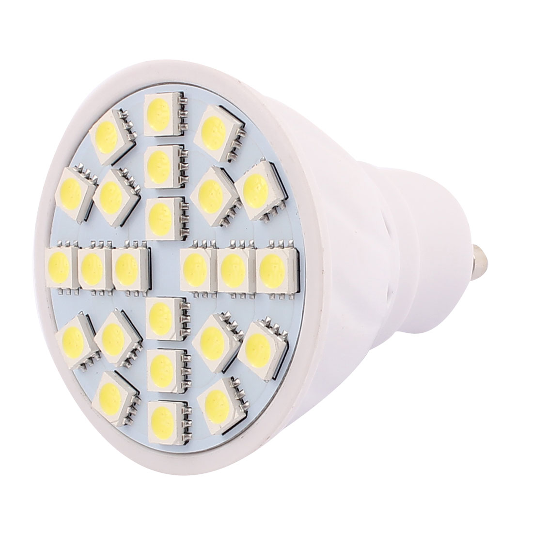 220V GU10 LED Light 3W 5050 SMD 24 LEDs Spotlight Down Lamp Bulb Energy Save Pure White