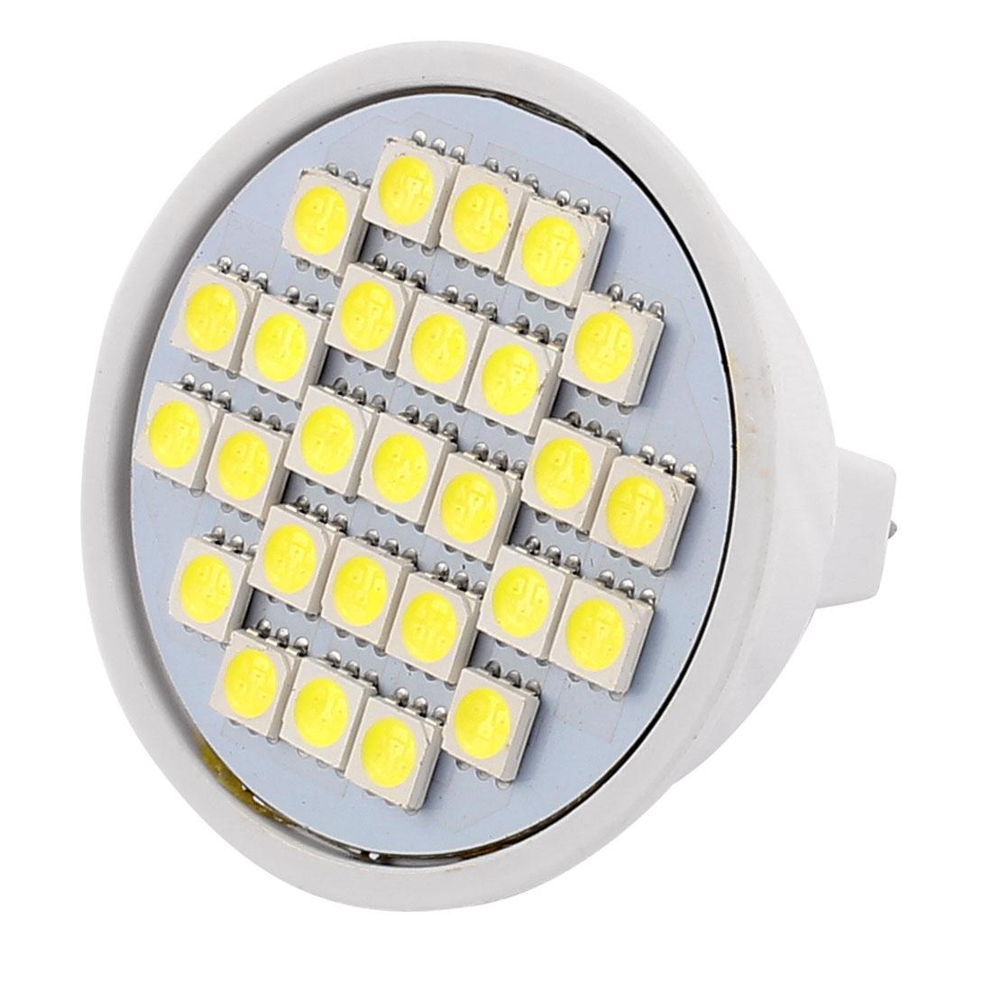 220V 5W MR16 5050 SMD 27 LEDs LED Bulb Light Spotlight Lamp Lighting White