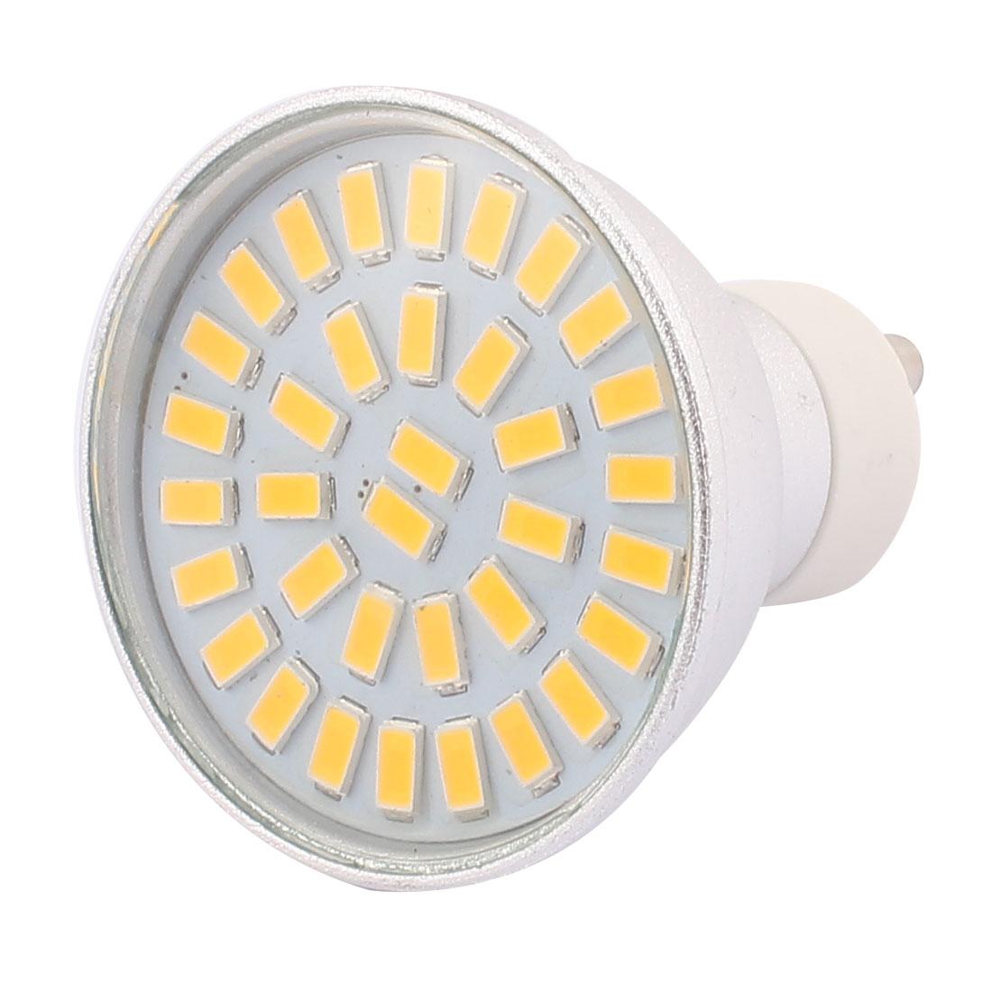 220V-240V GU10 LED Light 5W 5730 SMD 35 LEDs Spotlight Down Lamp Bulb Energy Saving Warm White