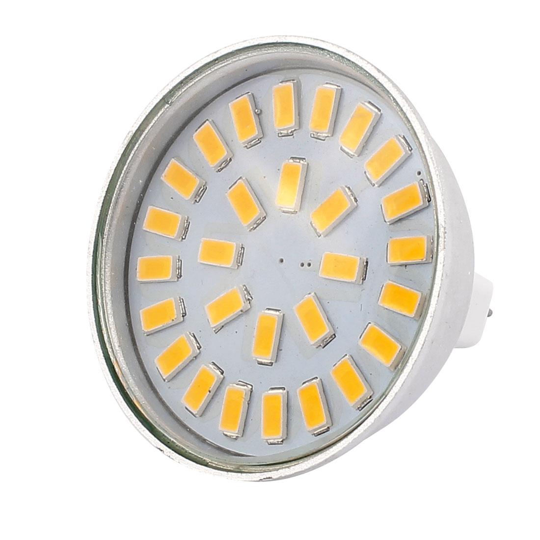 220V-240V 5W MR16 5730 SMD 28 LEDs LED Bulb Light Spotlight Lamp Energy Save Warm White