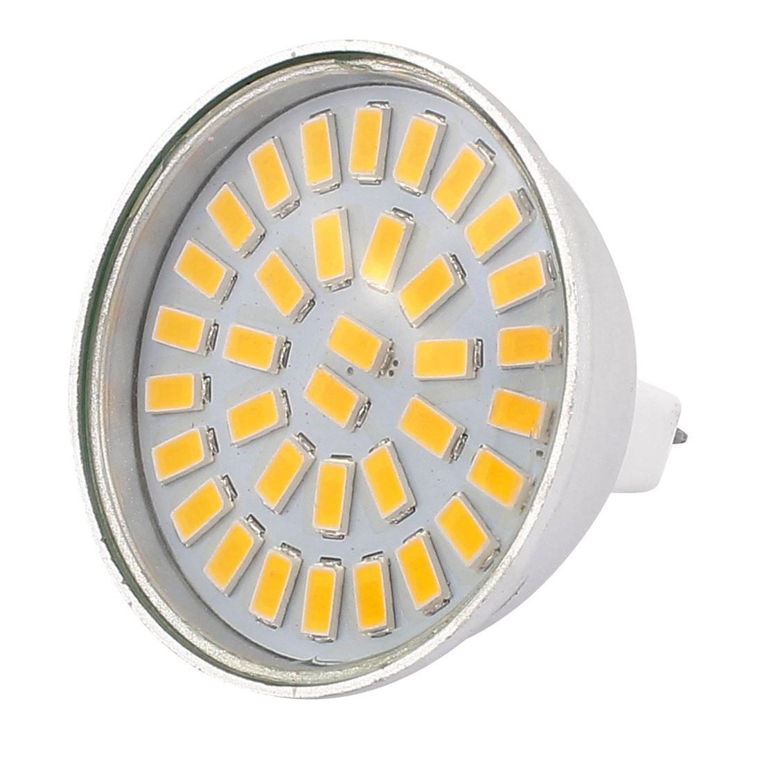 220V-240V 5W MR16 5730 SMD 35 LEDs LED Bulb Light Spotlight Lamp Energy Save Warm White