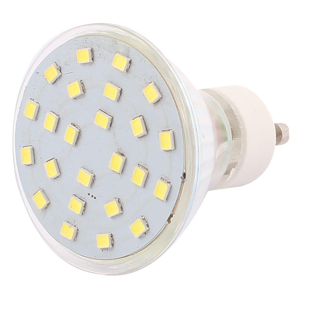 220V GU10 LED Light 4W 2835 SMD 24 LEDs Spotlight Down Lamp Bulb Lighting Pure White