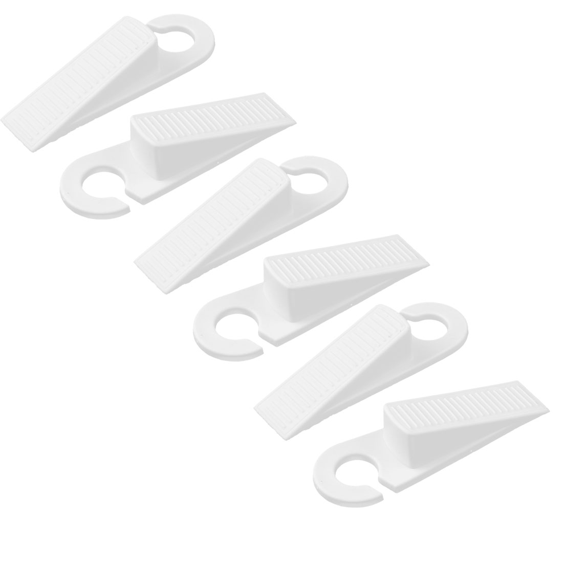 Home Office Floor Rubber Anti-slip Door Stopper Guard Protector White 3 Pairs
