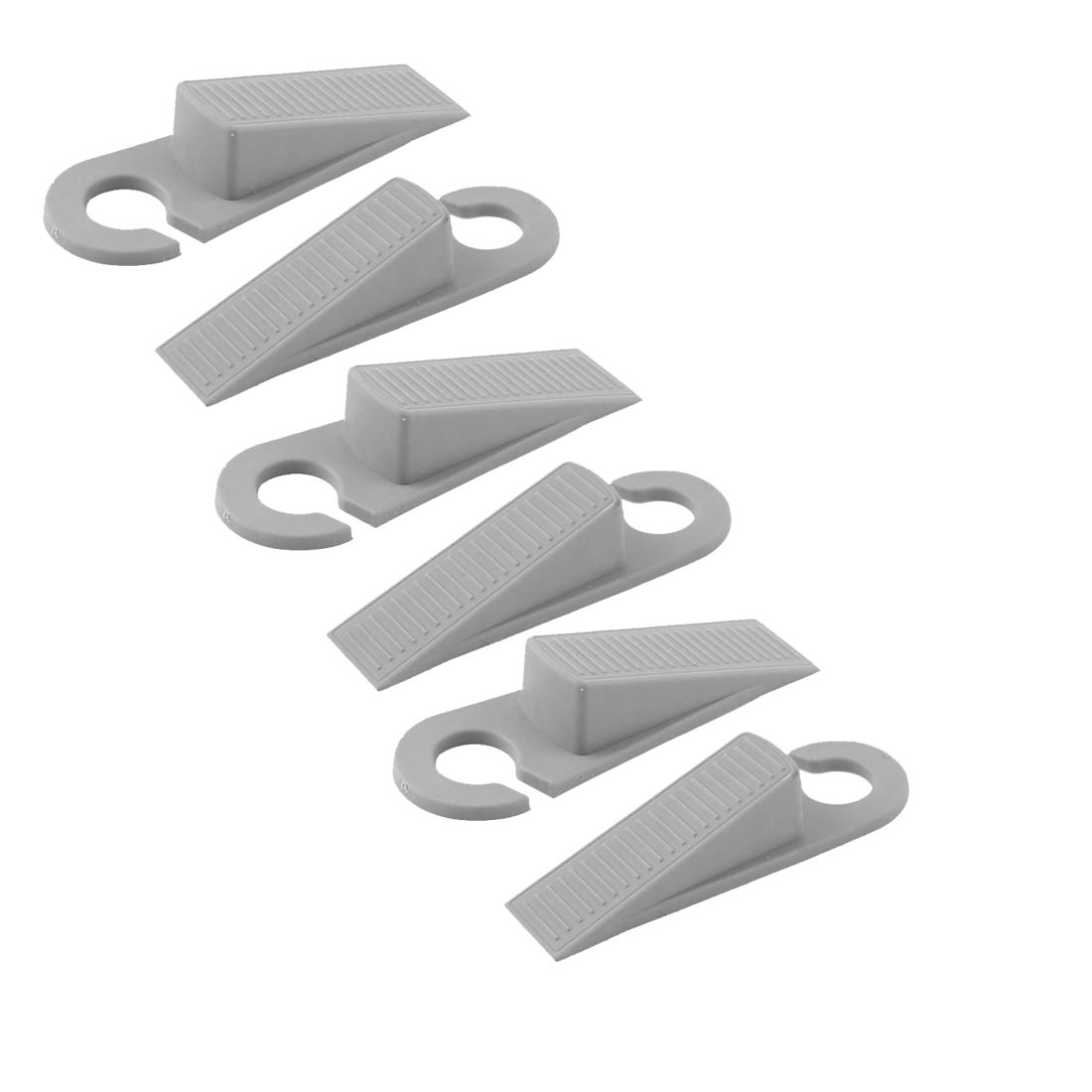 Home Office Floor Rubber Anti-slip Door Stopper Guard Protector Gray 3 Pairs
