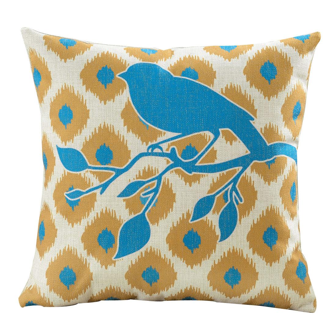 Home Sofa Cotton Linen Pop Geometric Pattern Waist Back Cushion Pillow Cover
