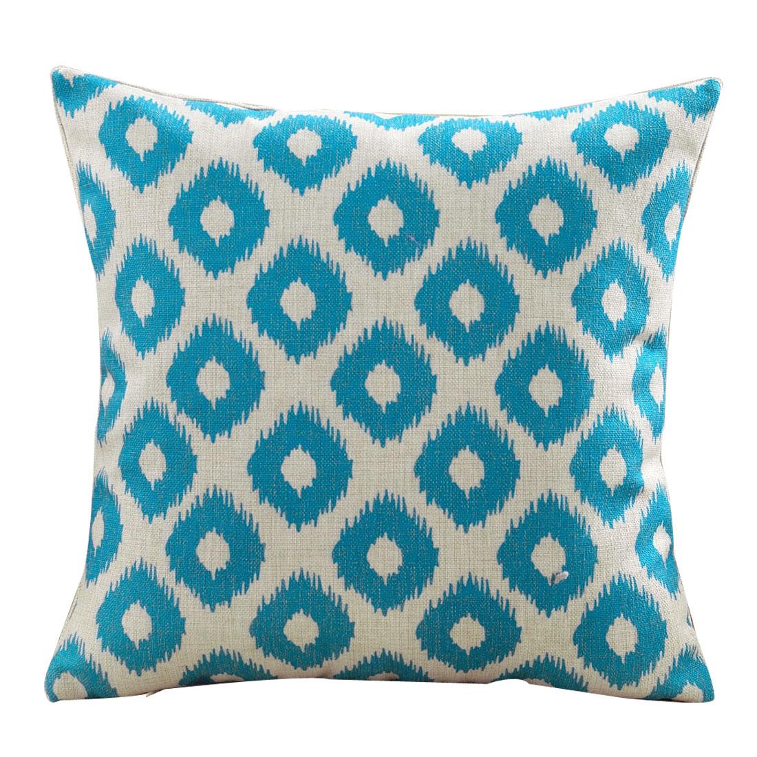Car Seat Sofa Cotton Linen Pop Geometric Pattern Waist Throw Cushion Pillow Cover