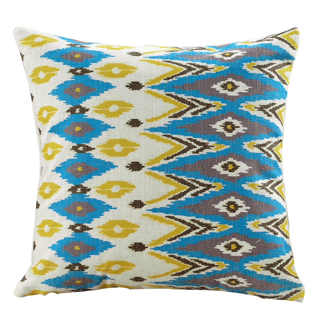 Car Seat Sofa Cotton Linen Pop Geometric Pattern Waist Back Cushion Pillow Cover