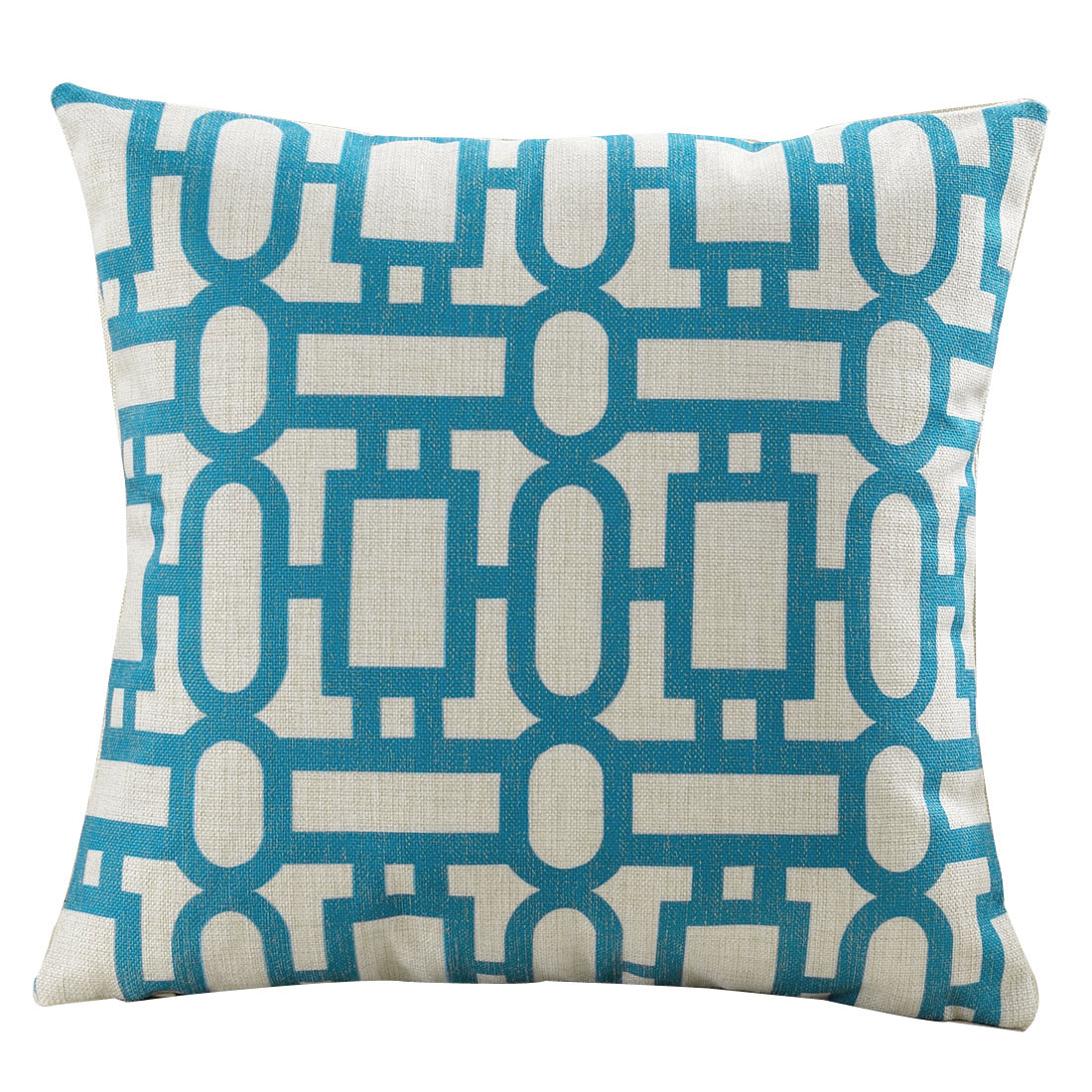Couch Sofa Cotton Linen Pop Geometric Pattern Waist Throw Cushion Pillow Cover