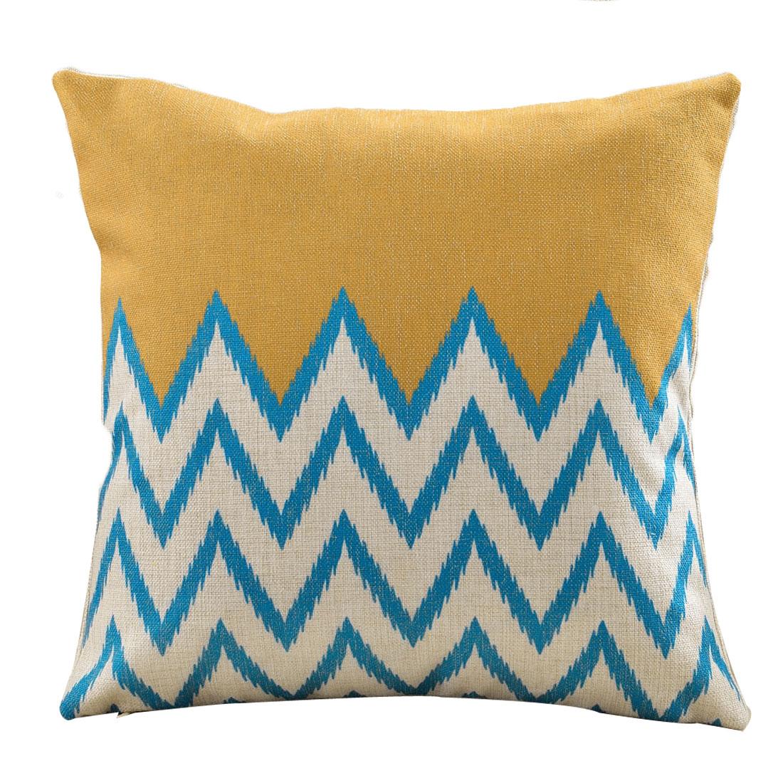 Couch Car Seat Cotton Linen Pop Geometric Pattern Waist Throw Cushion Pillow Cover
