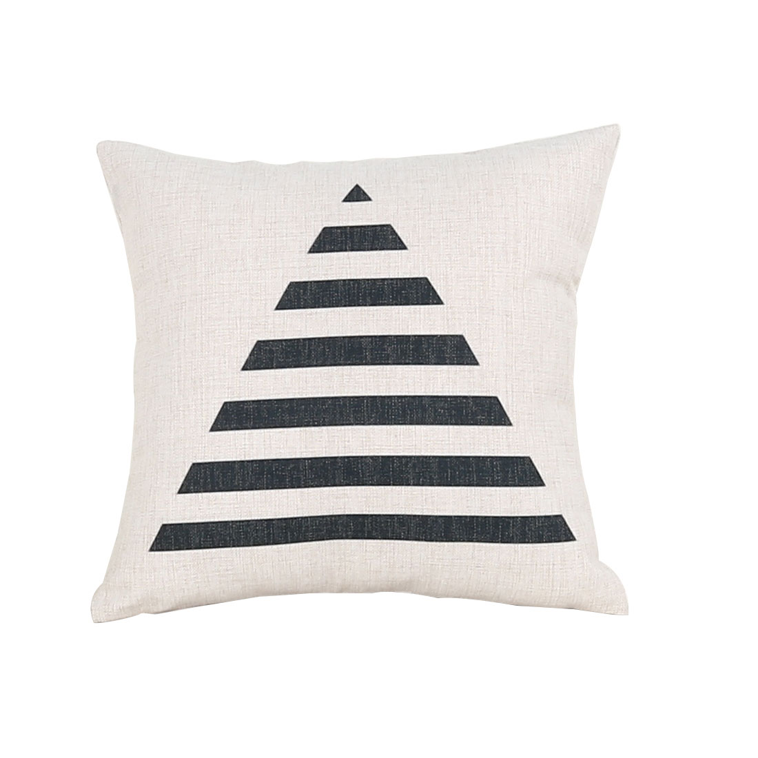 Sofa Cotton Linen Triangle Pattern Square Design Waist Throw Cushion Pillow Cover