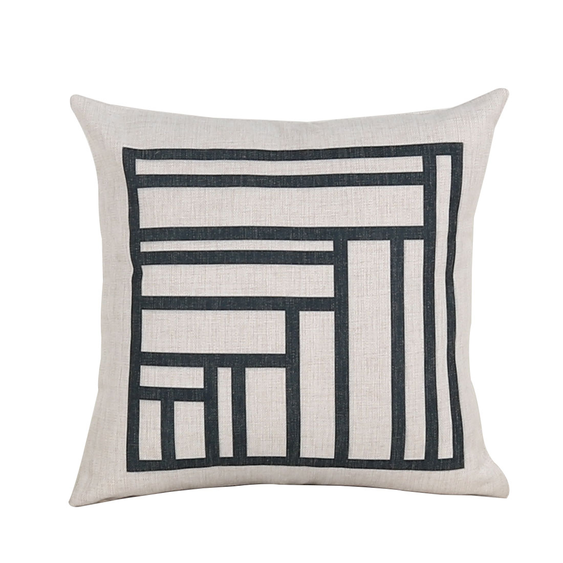 Sofa Cotton Linen Square Pattern Square Design Waist Throw Cushion Pillow Cover