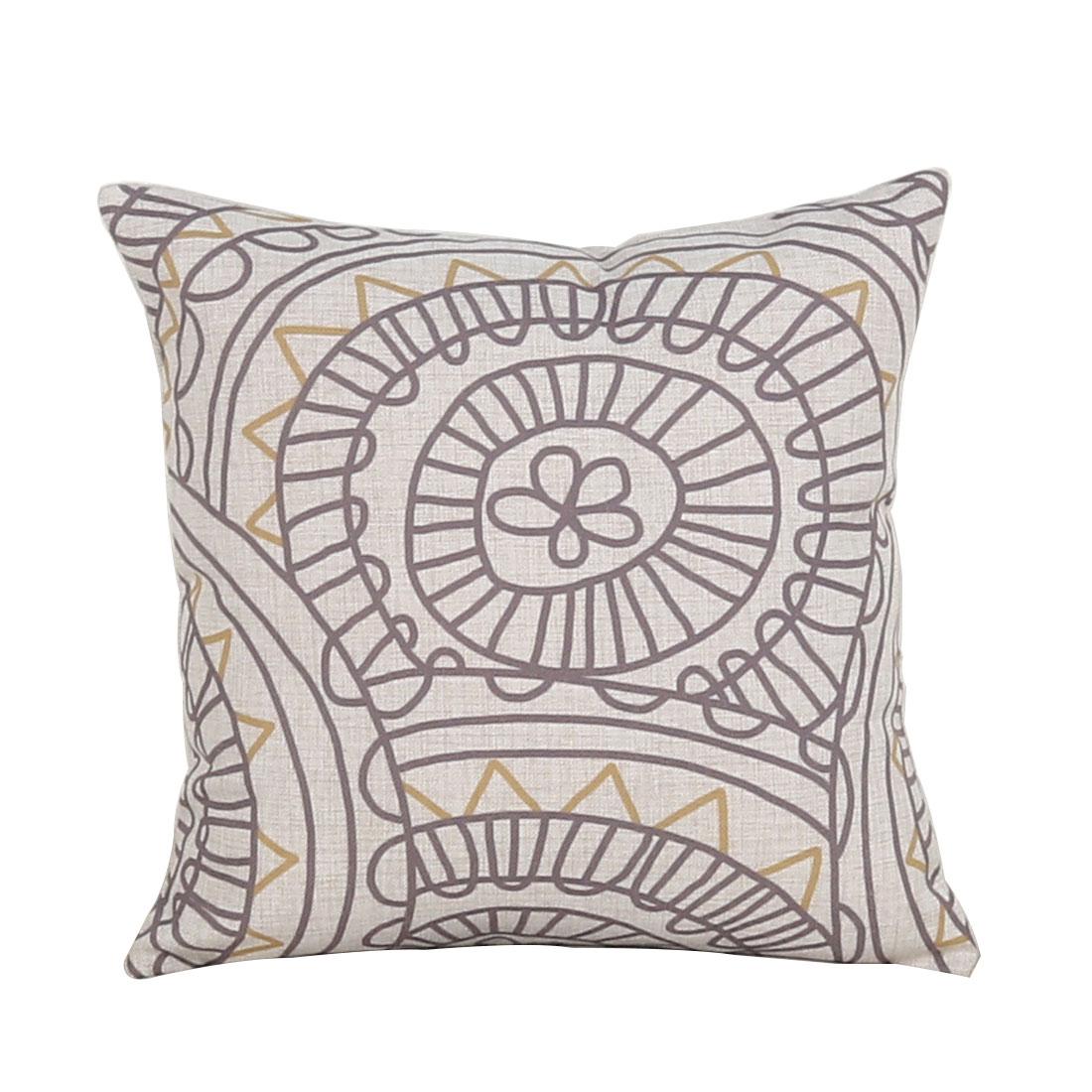 Sofa Cotton Linen Geometric Pattern Square Design Retro Style Pillow Cover Decor