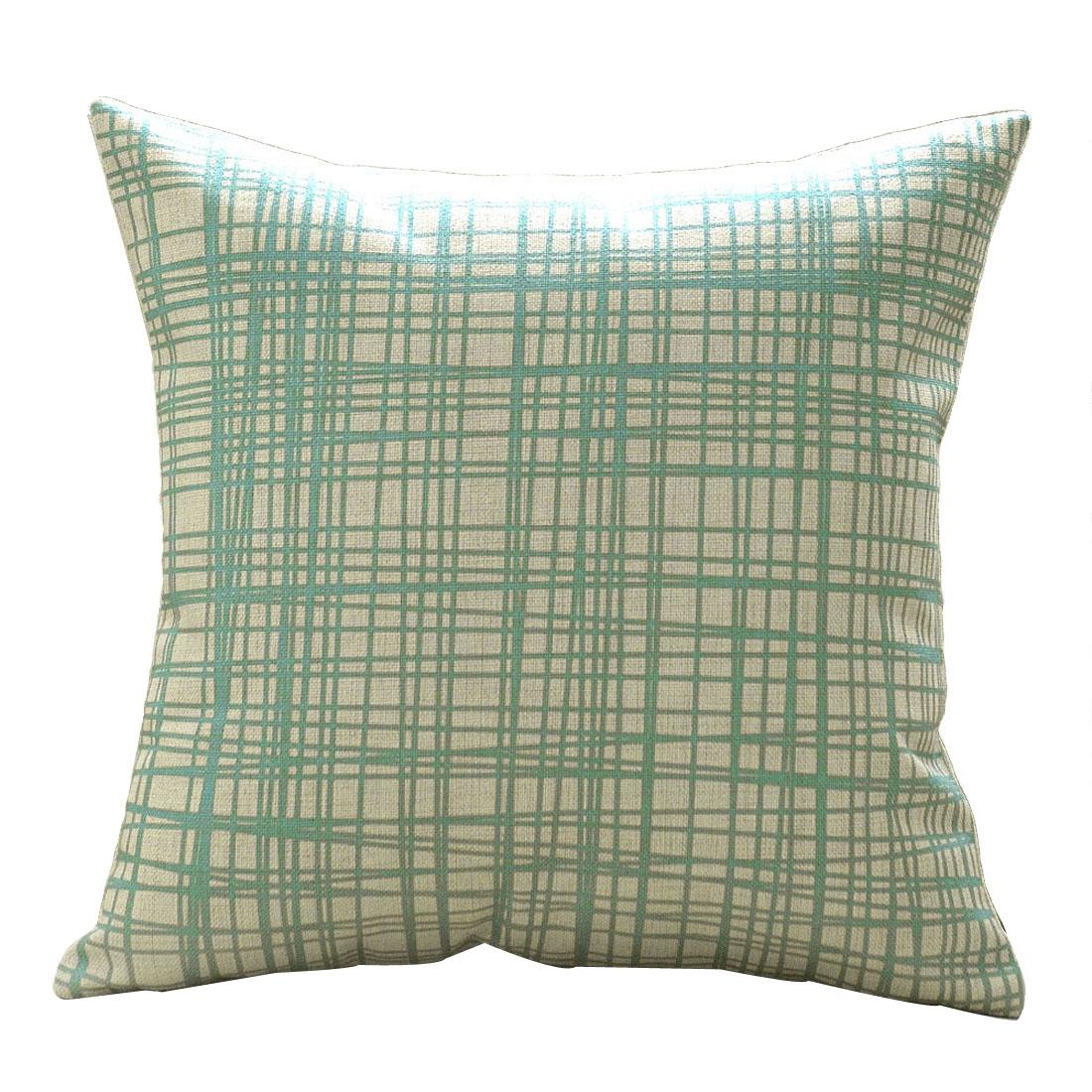 Home Cotton Linen Geometric Pattern Square Design Retro Style Cushion Pillow Cover