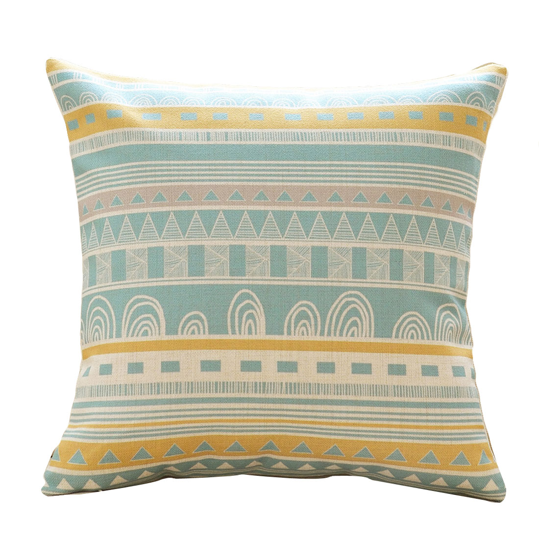 Sofa Cotton Linen Geometric Pattern Single Side Retro Style Pillow Cover Decor