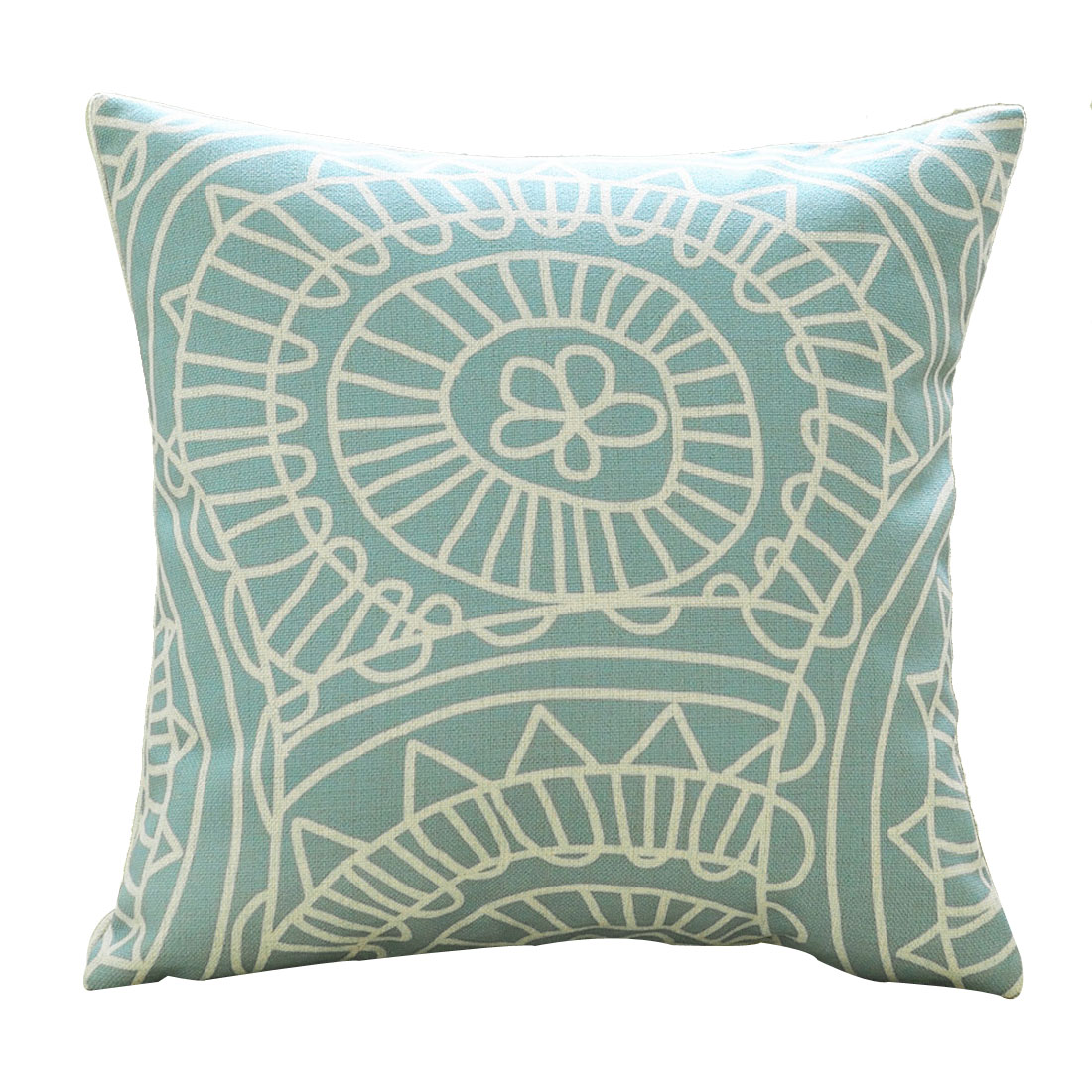 Sofa Cotton Linen Geometric Pattern Retro Style Pillow Cushion Case Cover Pillowcase