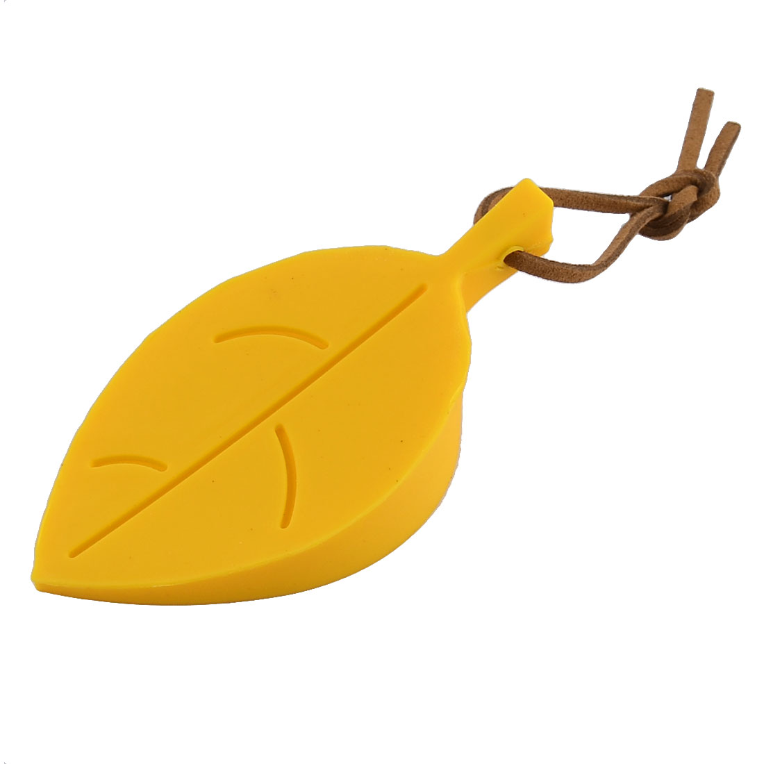Home Office Leaf Style Flexible Silicone Wedge Finger Protector Door Stopper Yellow