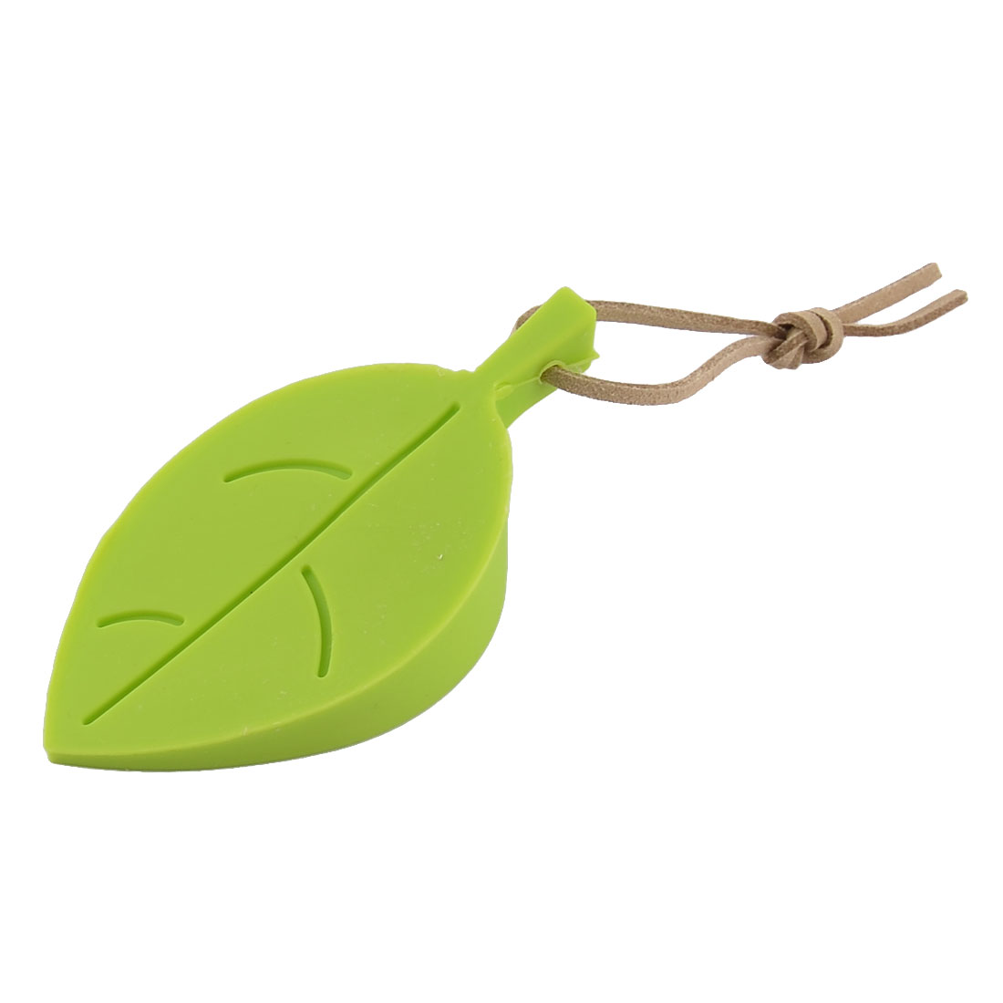 Home Office Leaf Style Flexible Silicone Wedge Finger Protector Door Stopper Green
