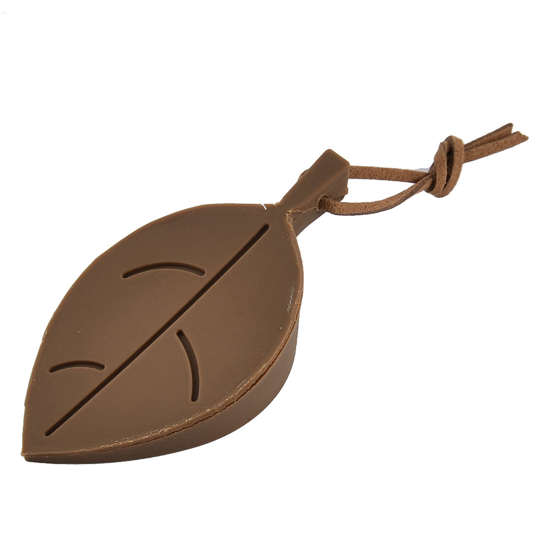 Home Office Leaf Style Flexible Silicone Finger Guard Door Stopper Coffee Color