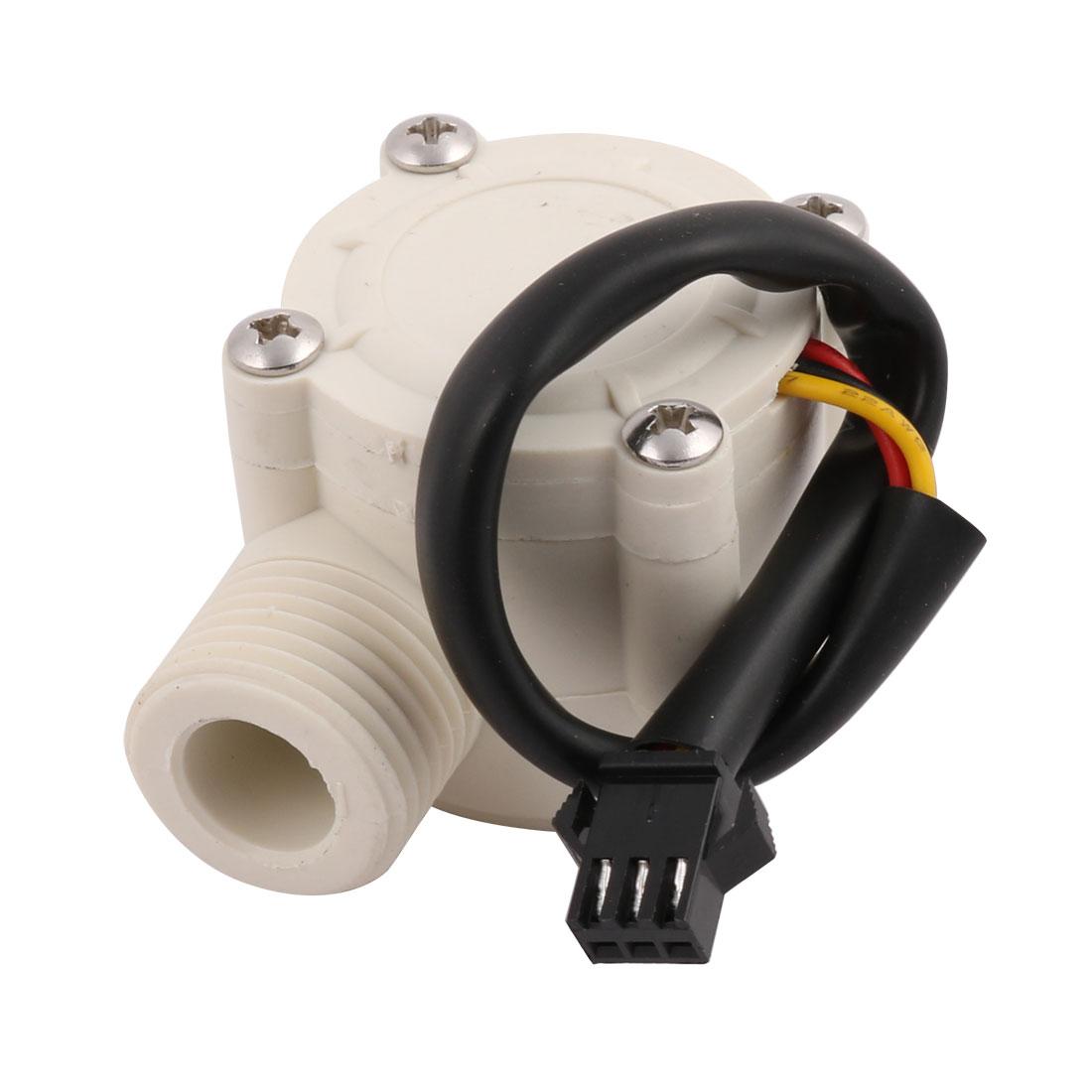 1-30L/min 0.8Mpa G1/2 Fluid Water Flow Sensor Control Hall Meter Flowmeter