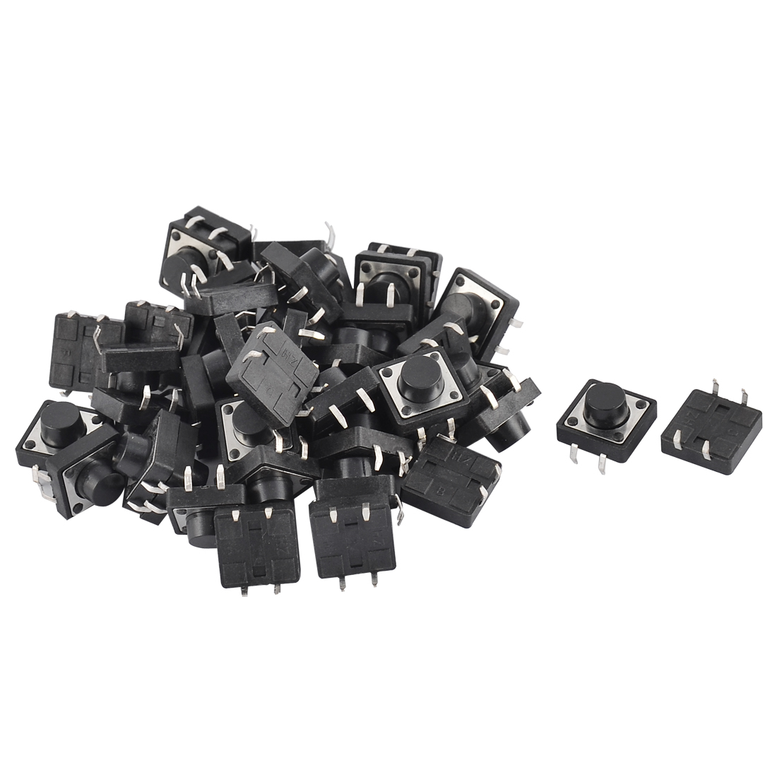 Electronic Component Panel PCB Momentary Tactile Tact Push Button Switch 12 x 12 x 7mm 44pcs