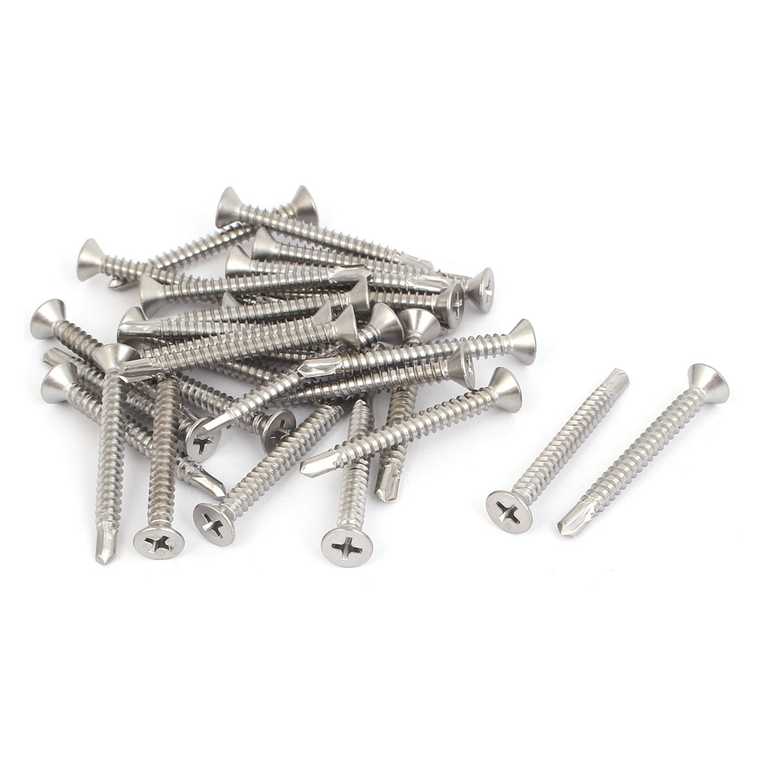 M4.8 x 45mm Phillips Countersunk Head Self Drilling Screws Bolts 30 Pcs