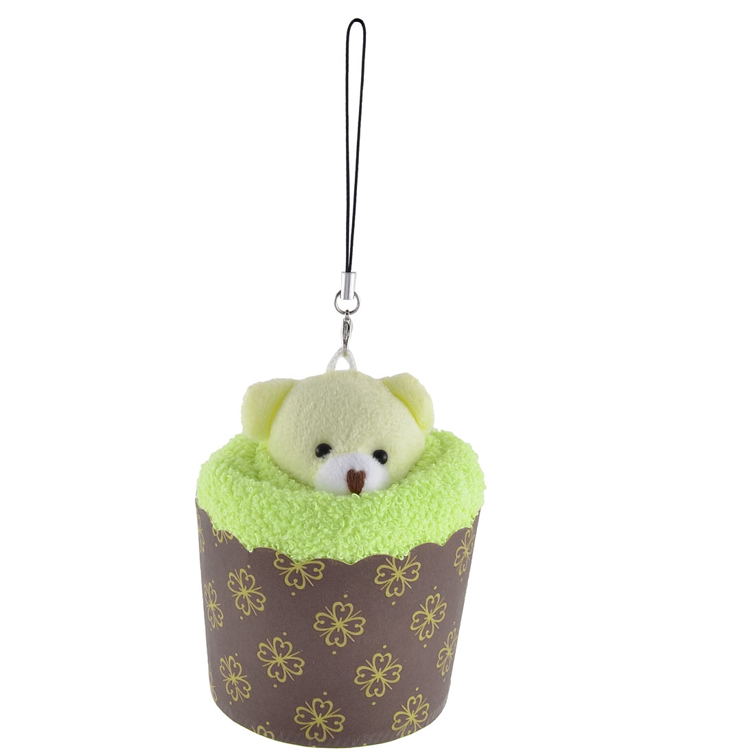 Toy Bear Decor Cupcake Shaped Towel Washrag Facecloth Gift Light Green