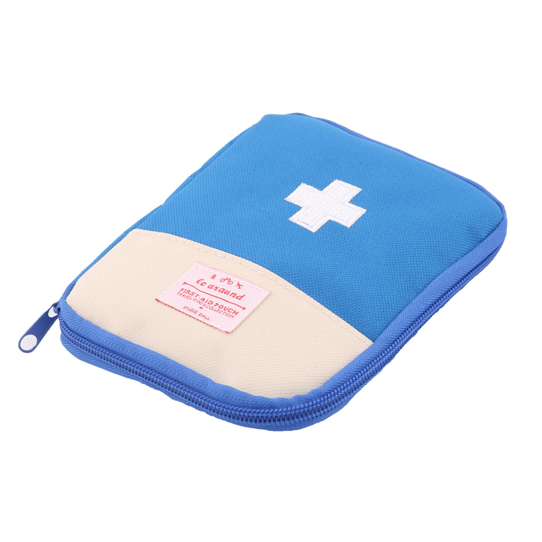 Outdoor Camping Portable Rectangle Shape First Aid Kit Medic Rescue Bag Blue