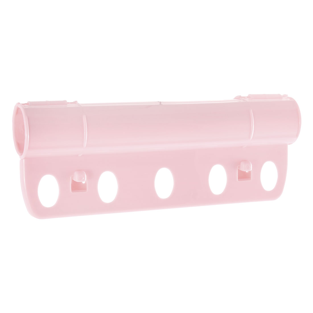 Creative 5 Holes Plastic Foldable Rack Fixed Windproof Clothes Hanger Lock Pink