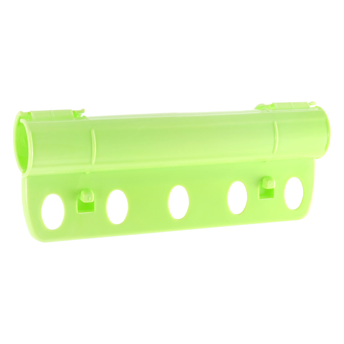Creative 5 Holes Plastic Foldable Rack Fixed Windproof Clothes Hanger Lock Green