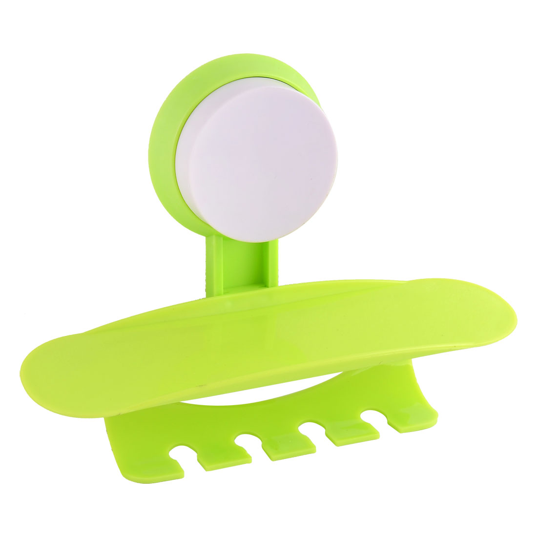 Suction Cup Wall Mounted Toothpaste Toothbrush Combination Frame Holder Green