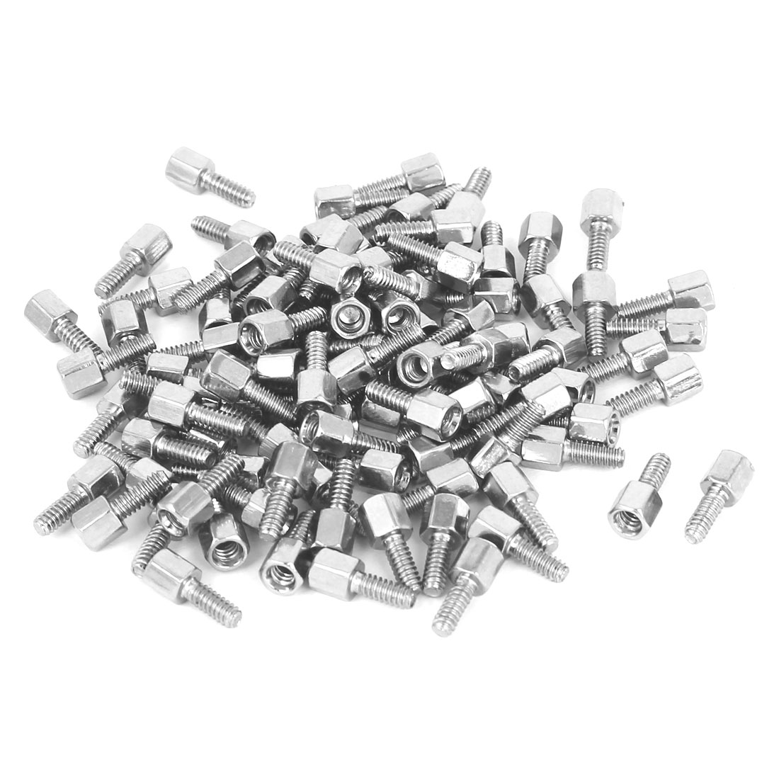 M3x5mm+7mm Male to Female Thread Brass Spacer Hexagonal Standoff Pillar 100pcs