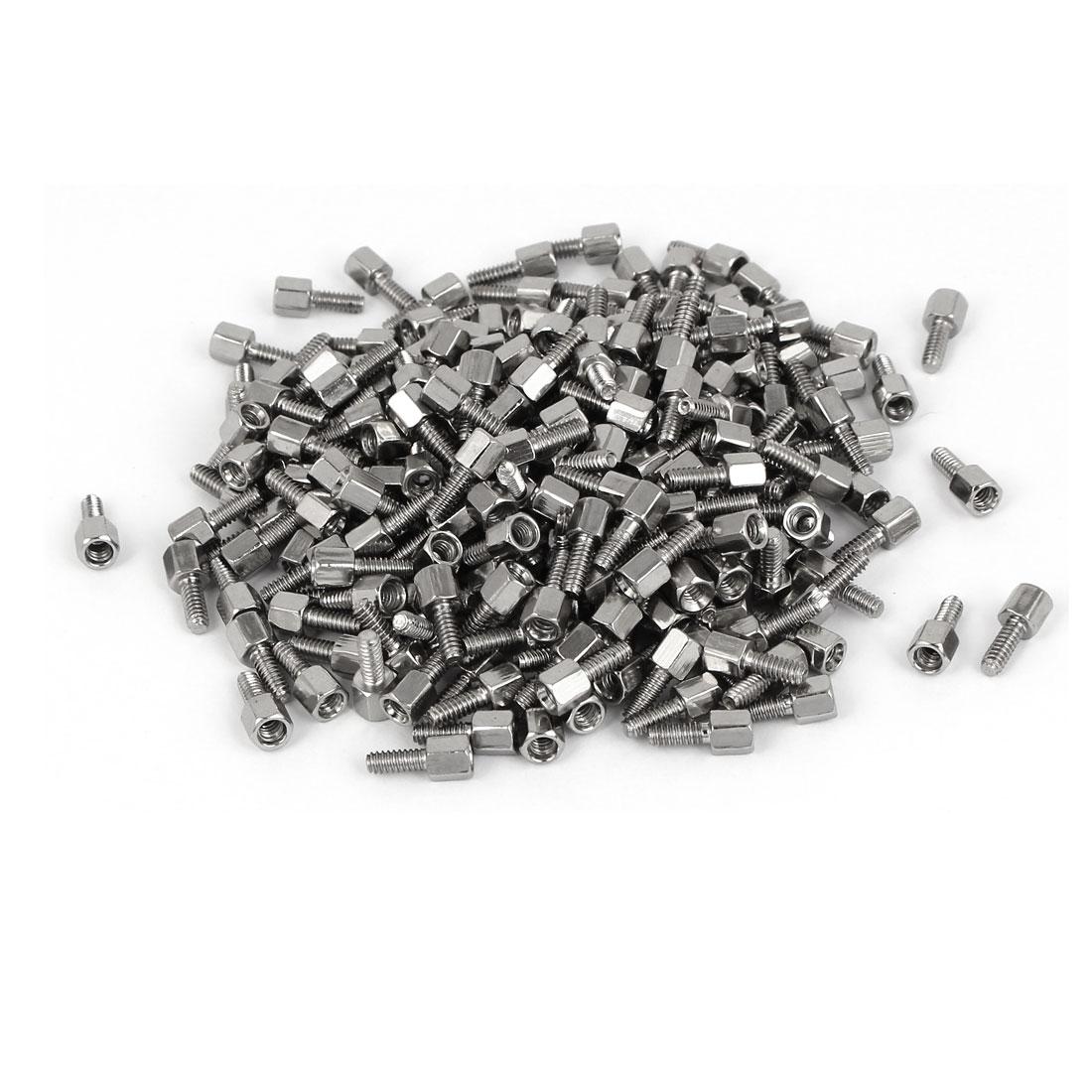 M3x5mm+7mm Male to Female Thread Brass Spacer Hexagonal Standoff Pillar 500pcs