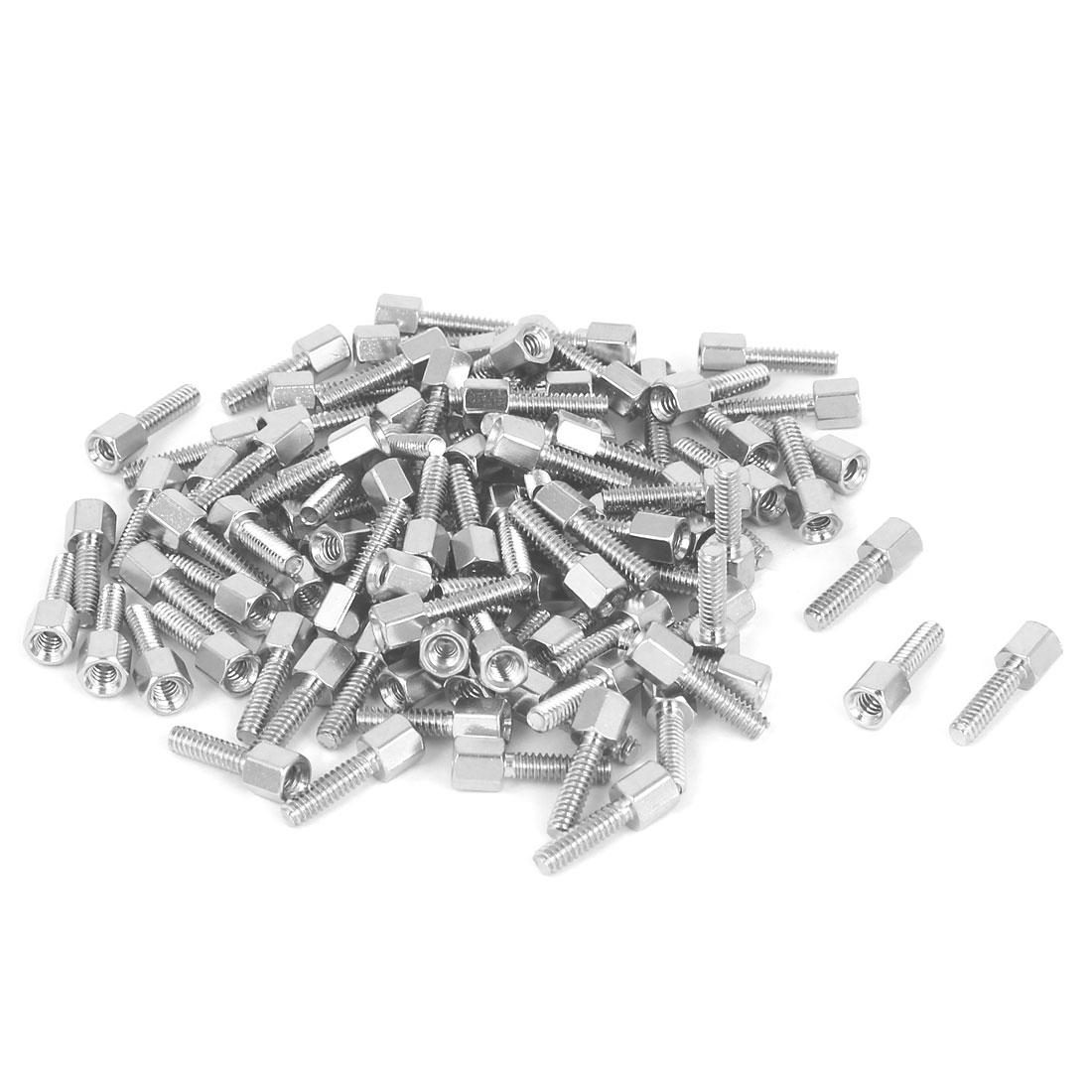 M3x5mm+10mm Male to Female Thread Brass Spacer Hexagonal Standoff Pillar 500pcs