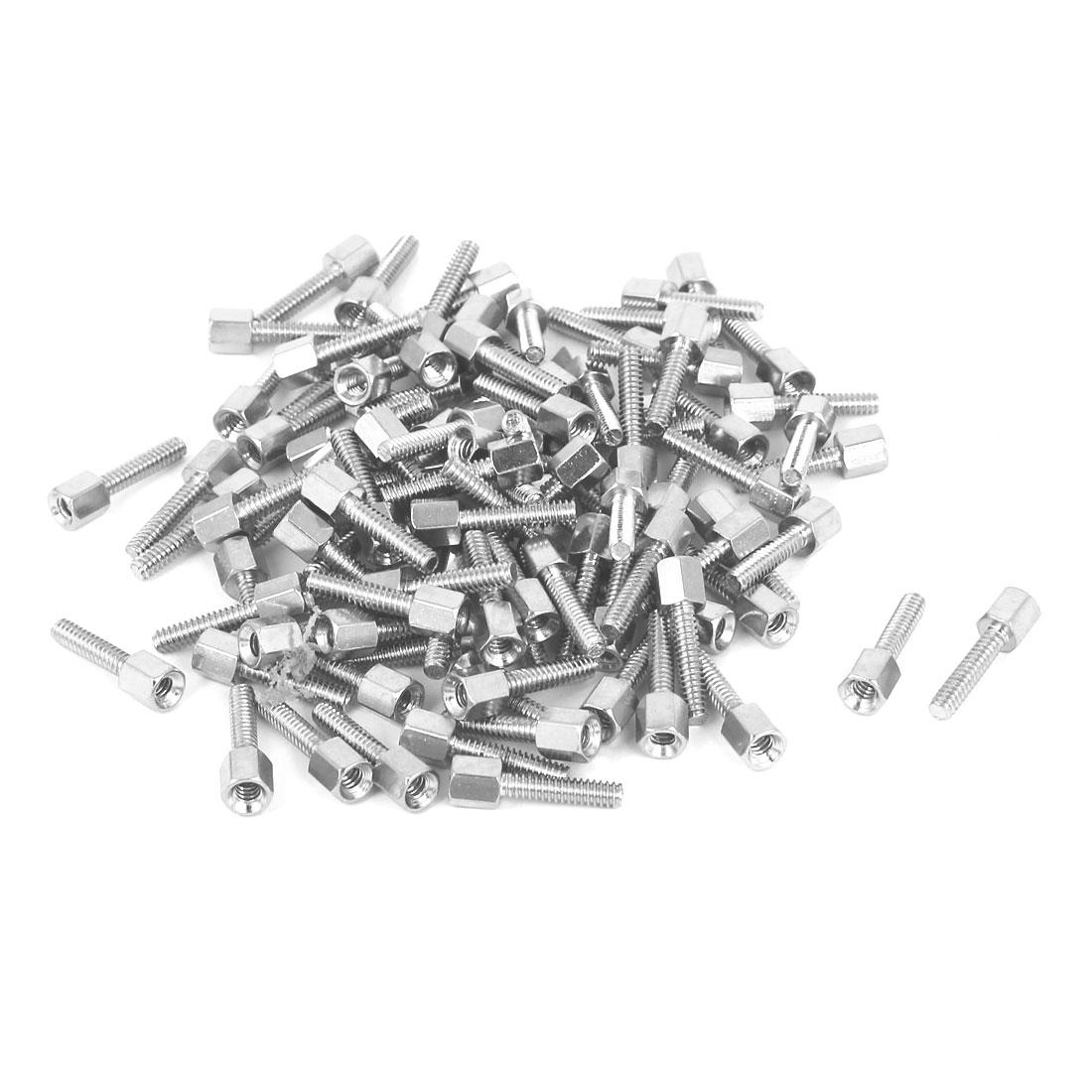 M3x5mm+12mm Male to Female Brass Spacer Hexagonal Standoff Pillar 100pcs