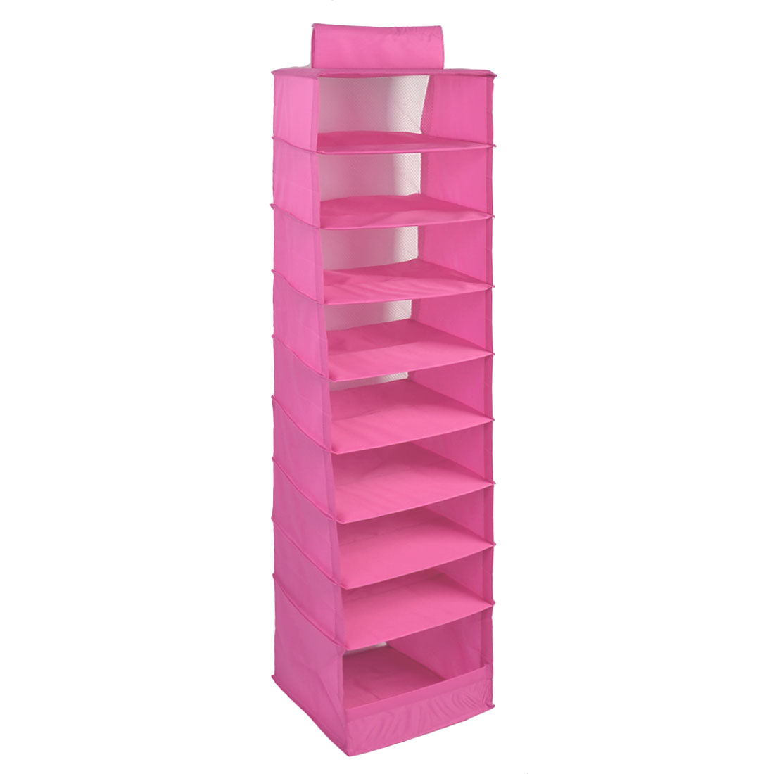 Home Warehouse Foldable 9 Compartments Drawer Clothes Underwear Storage Box Pink
