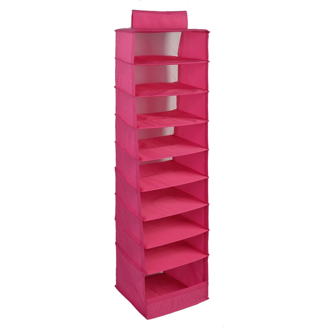 Home Foldable 9 Compartments Drawer Clothes Underwear Storage Box Fuchsia
