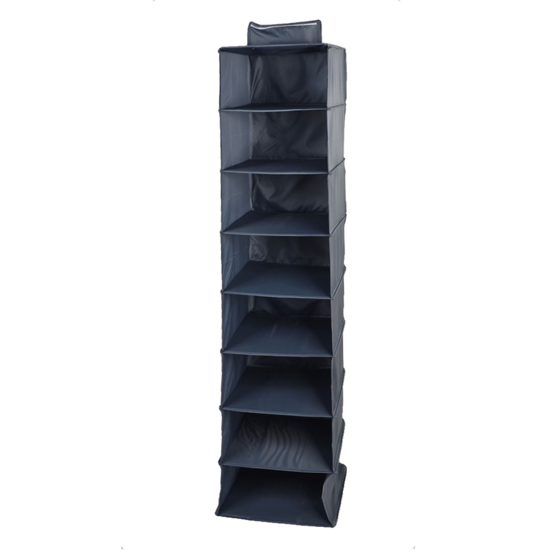Household Foldable 8 Compartments Underwear Socks Tie Storage Box Case Dark Gray