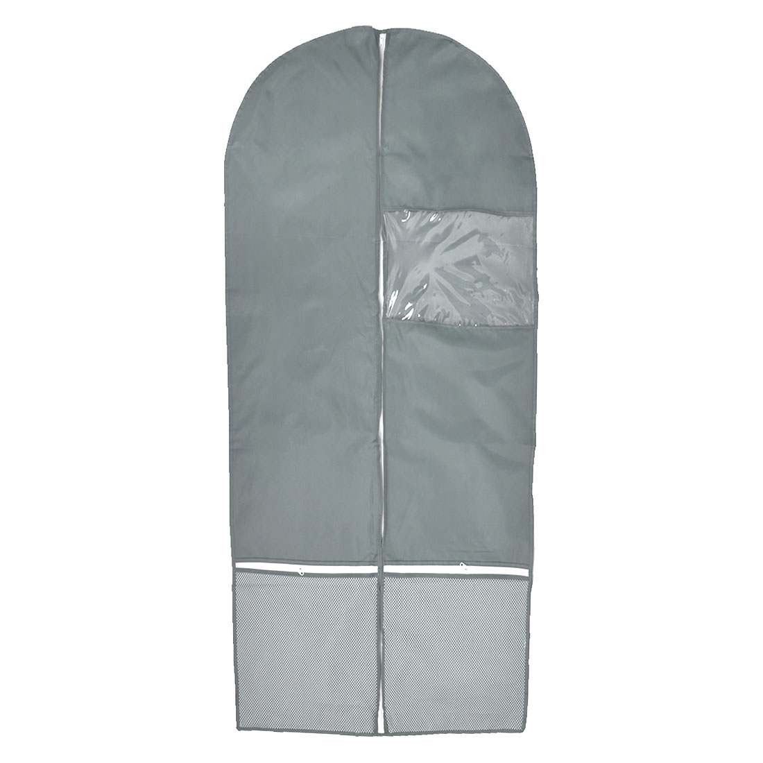 Household Travel Clothes Suit Dress Dustproof Cover Storage Protector Bag Light Gray