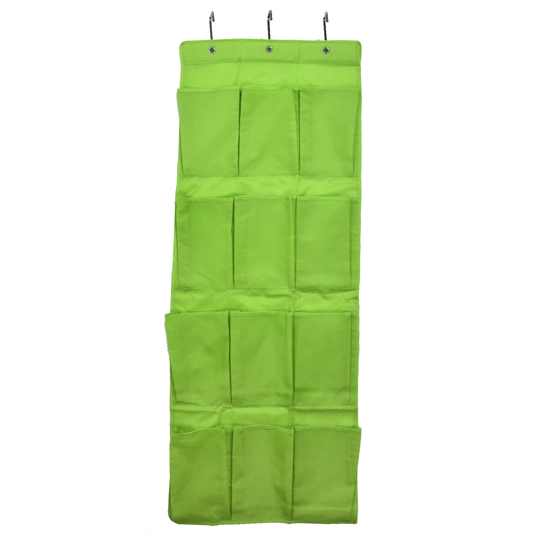 Household 12 Pockets Shoes Toiletry Cosmetic Hanging Organizer Holder Bag Green